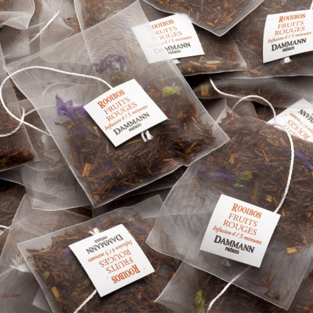 ROOIBOS FRUITS ROUGES - Boite 25 sachets Cristal individuels